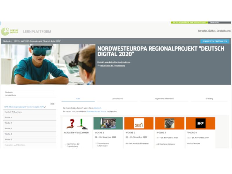 "Nordwesteuropa-Regionalprojekt ""Deutsch Digital 2020"""
