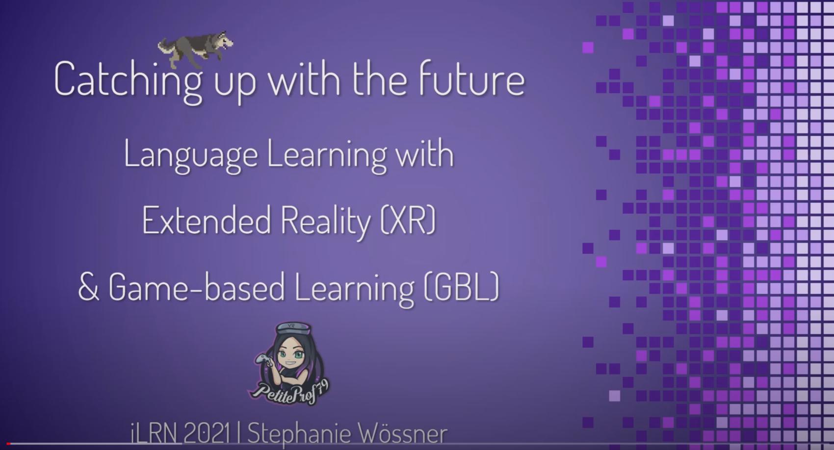 Apprentissage de langues avec la réalité étendue et les jeux